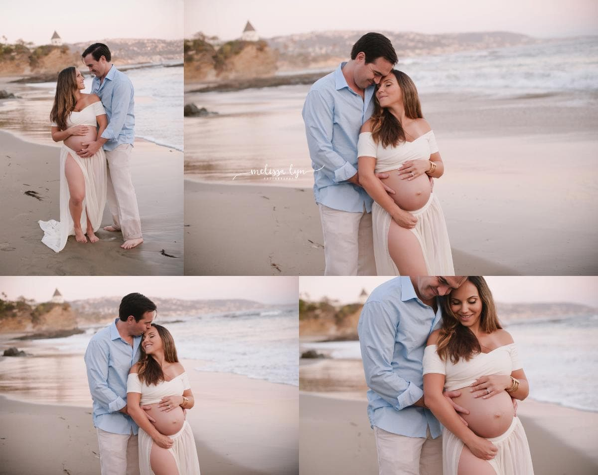 stunning laguna beach maternity session