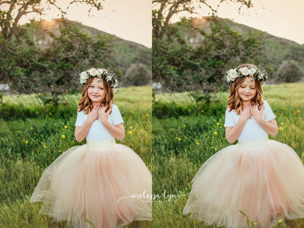 little girl in tutu spring photos