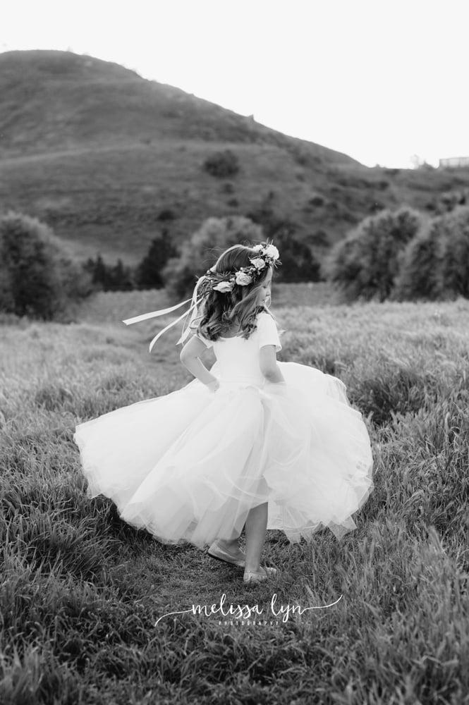 little girl in tutu spring photos