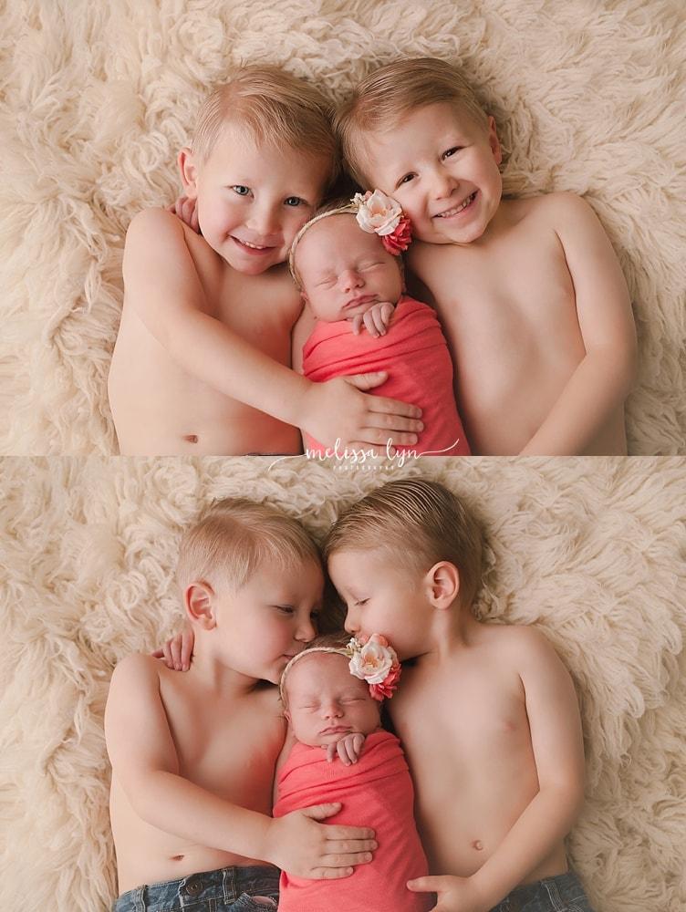 temecula newborn photographer, studio newborn session, sibling newborn photo