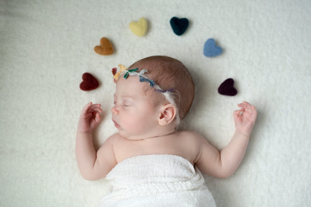 temecula rainbow baby newborn session