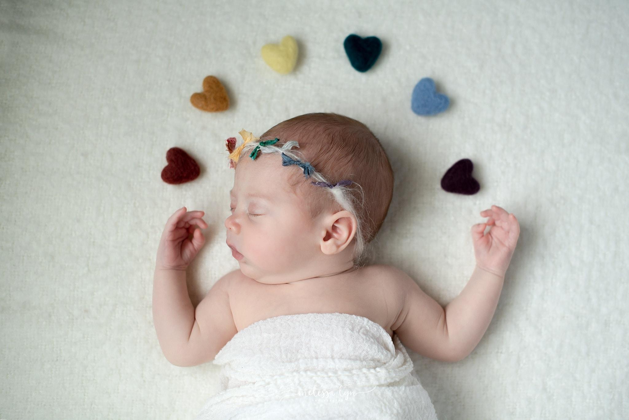 temecula rainbow baby newborn session