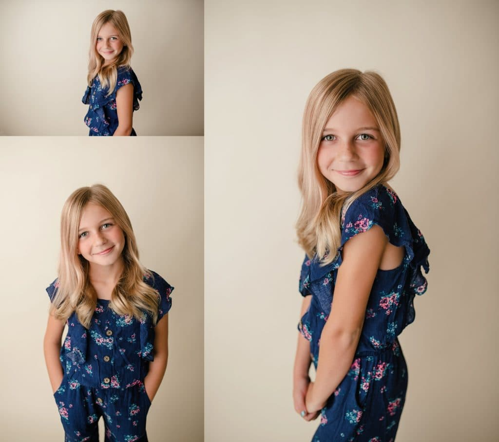 simple, classic, quick headshots of your child